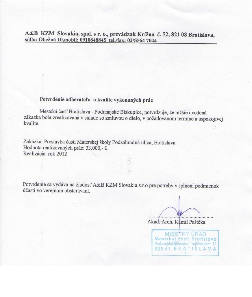 Zoznam prac 2012 ms podzahradna