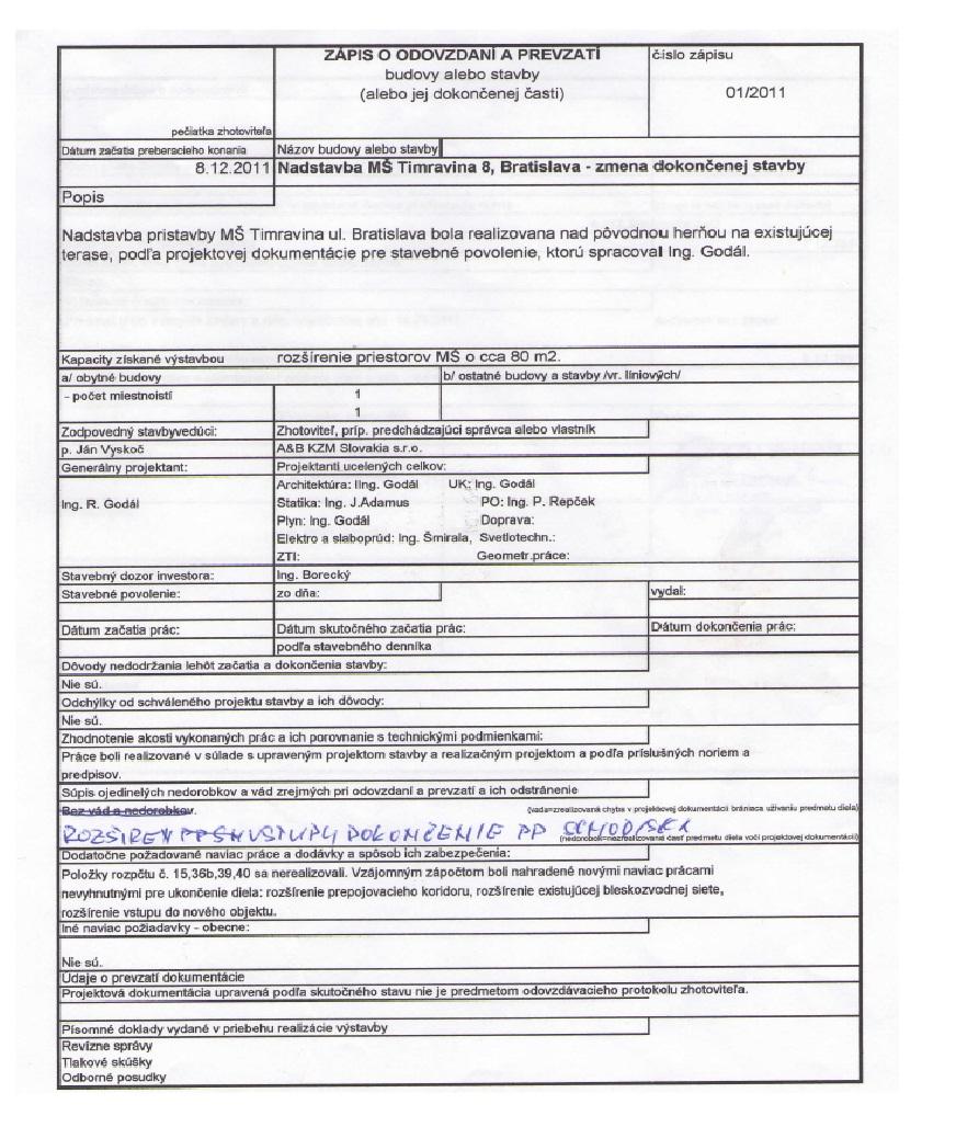 Zoznam prac 2011 MS Timravina